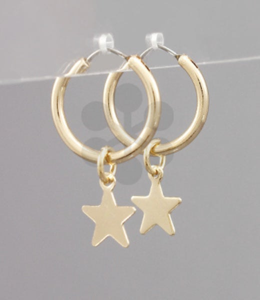 Small Hoop + Star Earrings