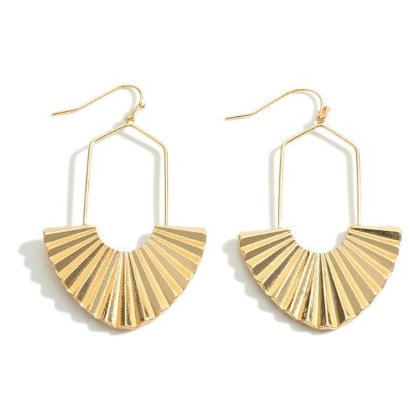 Fan Of Yours Earrings-Gold