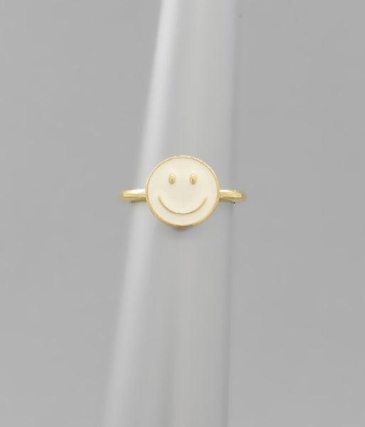 Smiley Gal Ring *White*