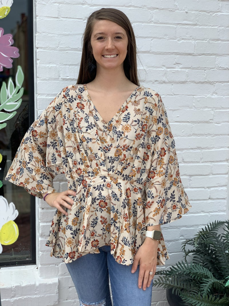 Reg/Curvy! Falling For You Floral Top