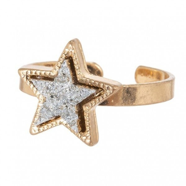 Druzy Star Ring *Silver*