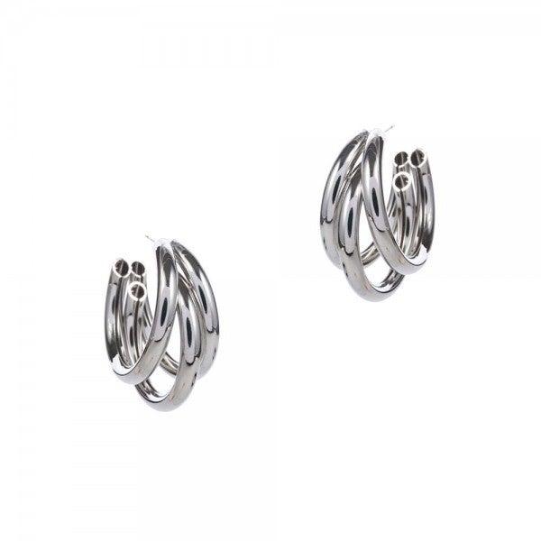 Twisted Hoop Earrings *Silver*