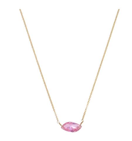 Pink Sparkle Pendant Necklace