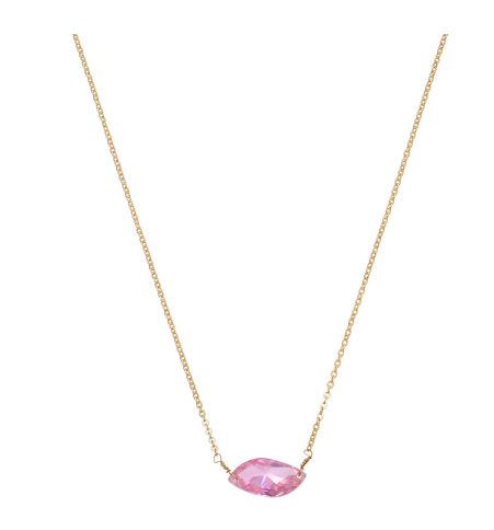 Pink Sparkle Pendant Necklace