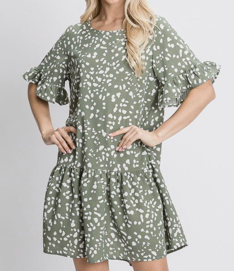 Just Can't Get Enough Dress - Sage