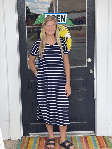Get In Line Dress *Navy*