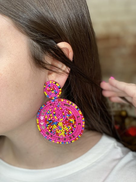Happy Days To come Beaded Earrings