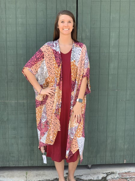 Floral and Paisley Patchwork Kimono