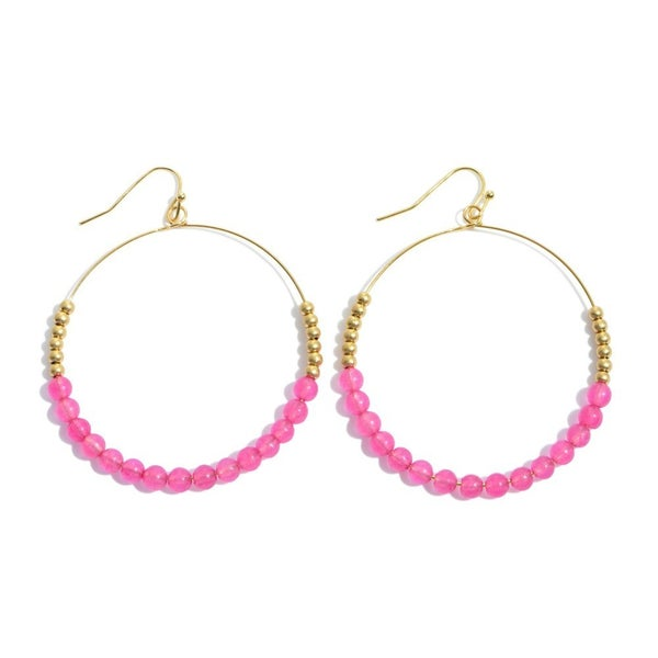Precious Beaded Drop Earrings