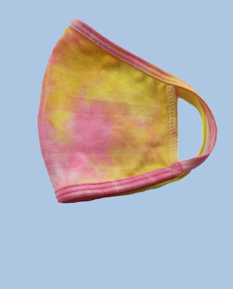 KIDS' Pink + Yellow Facemask *Final Sale*