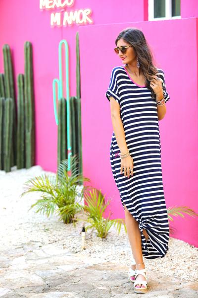 Madeline Striped Maxi Dress