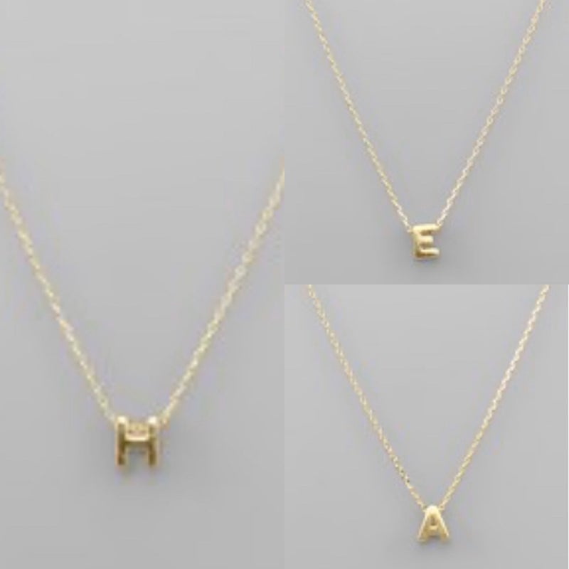 Gold Initial Necklace *Final Sale*