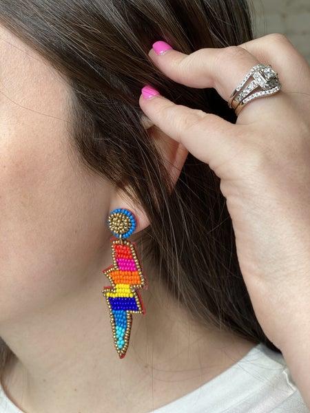 It's Electric Beaded Earrings