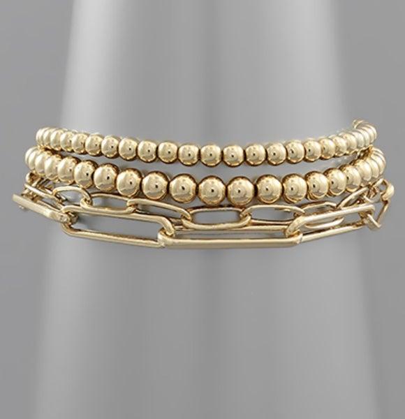 Ball + Chain Bracelet