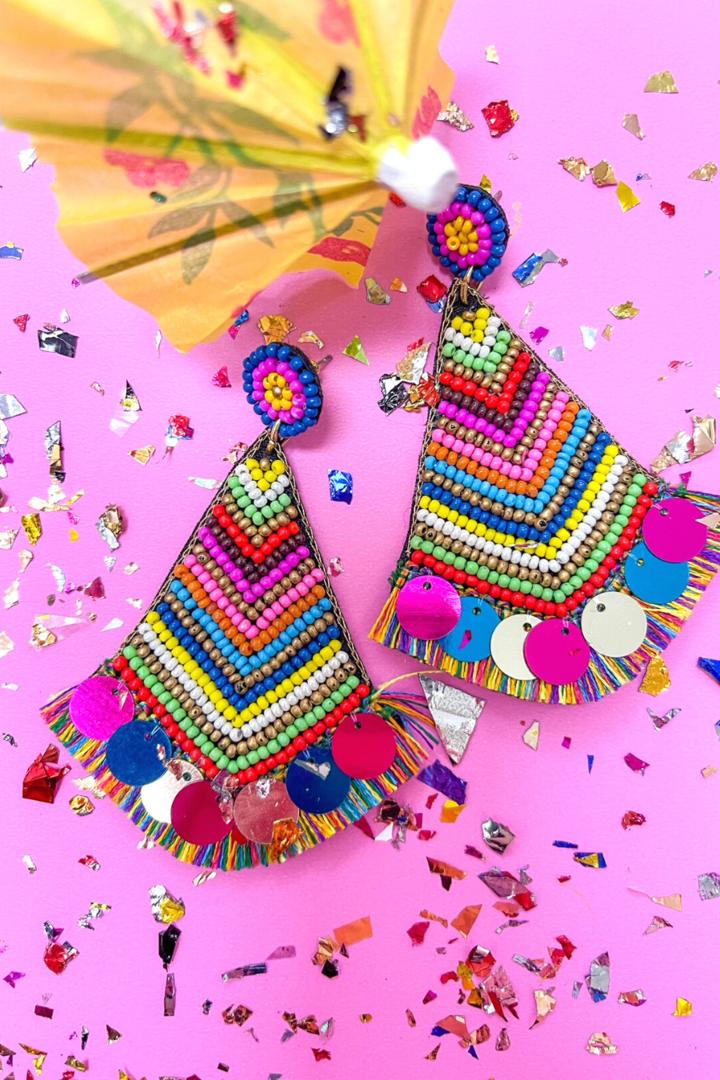 Pinata Beaded Earrings