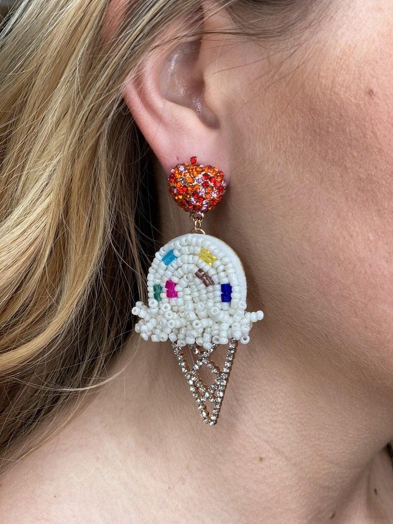 We Scream for Ice-Cream Beaded Earrings