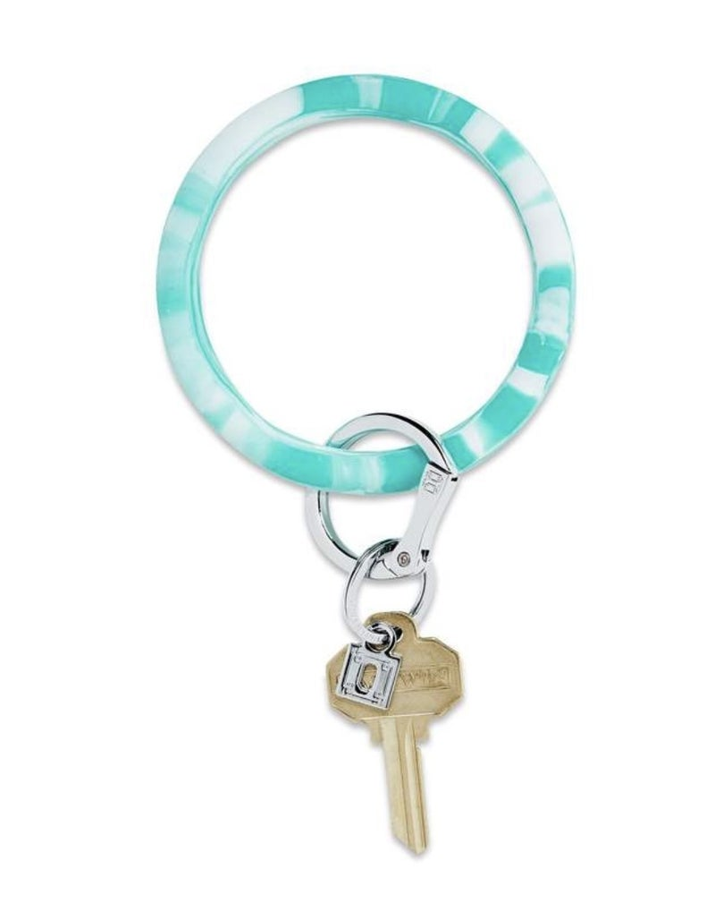 Silicone Big O Key Ring *In The Pool Marble*
