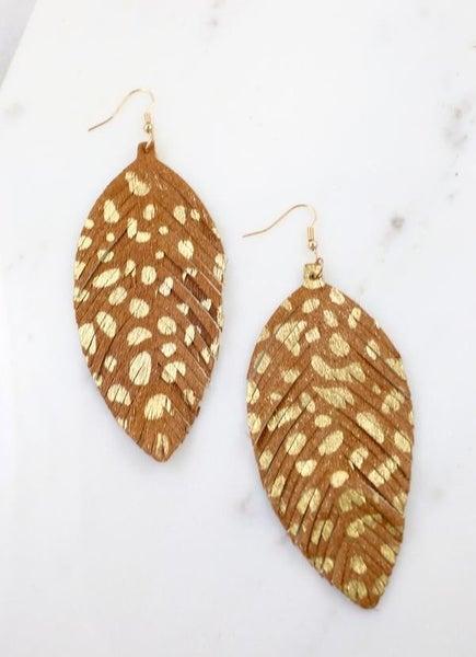 Gildan Animal Feather Earrings