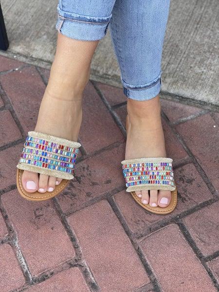 Jewel Camel Threads Slides