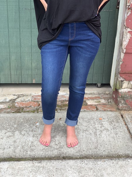 Curvy Only! Pull On Skinny Jeggings