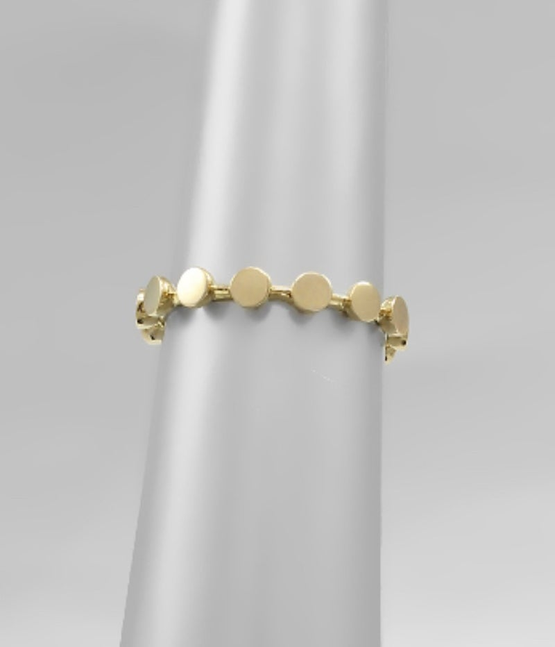 Gold Stud Ring - Size 7