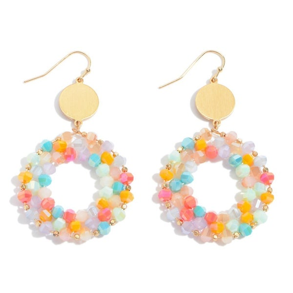 Beaded Ring Drop Earrings