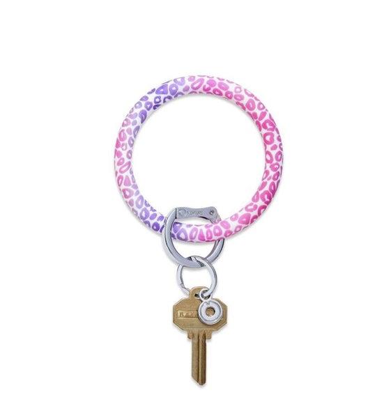 Silicone Big O Key Ring *Pink Cheetah*