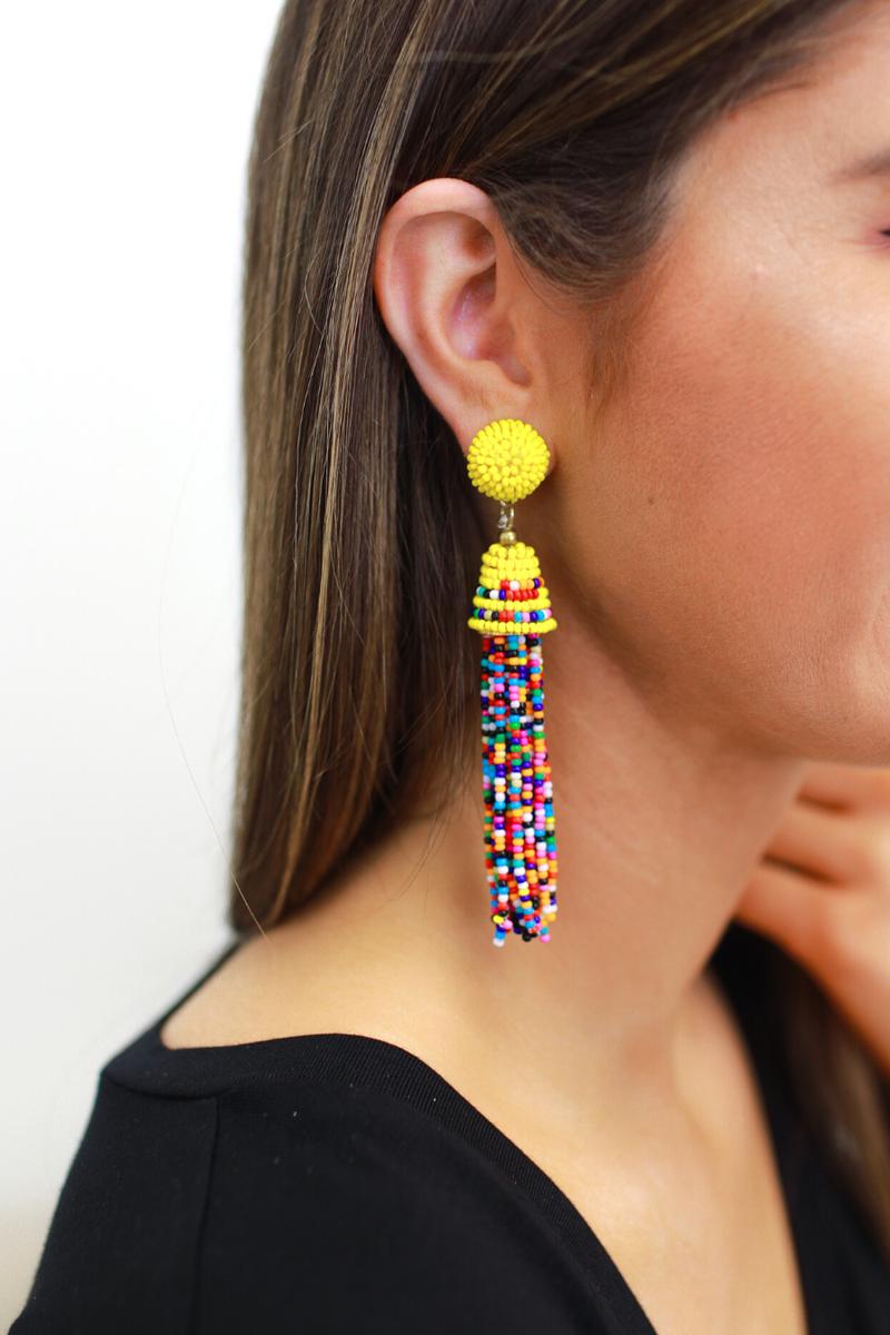 Island Breeze Tassel Earrings
