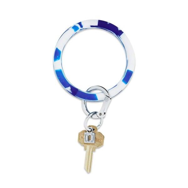Blue Marble Silicone Big O® Key Ring