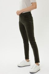KanCan High Rise Corduroy Ankle Skinny in Olive *Final Sale*