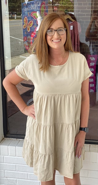 Step Into Summer Dress *Taupe*