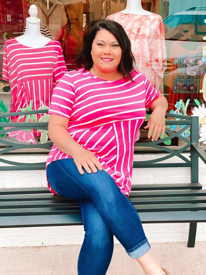 Curvy Line! Classic + Cute Striped Top