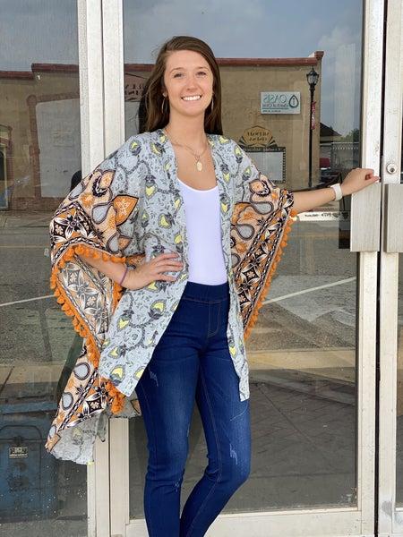 Take Me Away Tassel Kimono