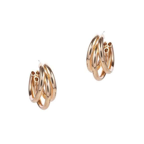 Twisted Hoop Earrings *Gold*