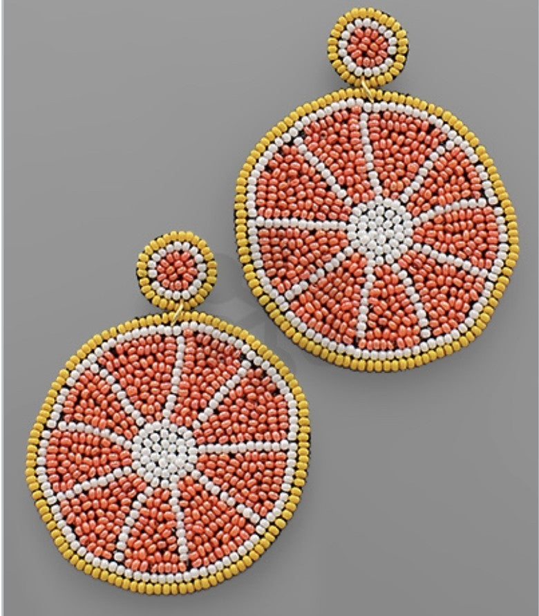 Citrus Beaded Earrings