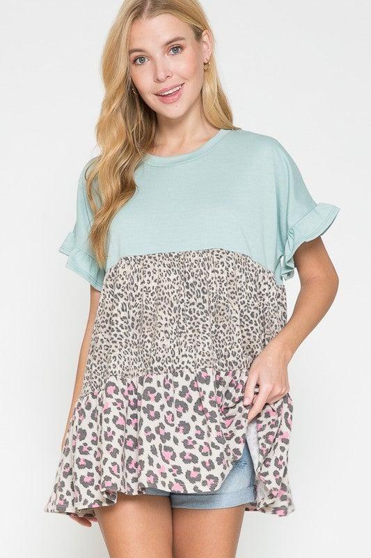 Leopard Cutie Top