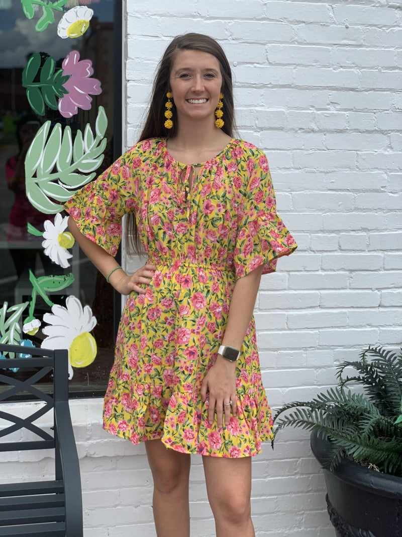 Enchanted Day Floral Dress