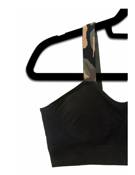 Reg + Curvy Strap-Its Black With Camo