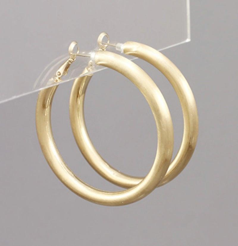 Medium Gold Hoops
