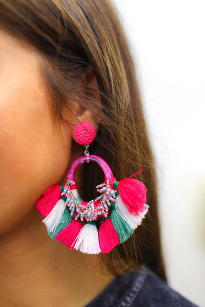 Flock This Way Fringe Earrings