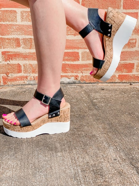 In The Moment Cork Wedge Sandals