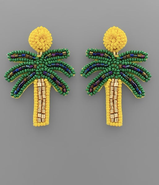 Yellow Palm Earrings