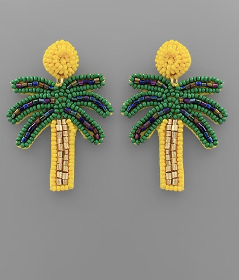 Yellow Palm Earrings