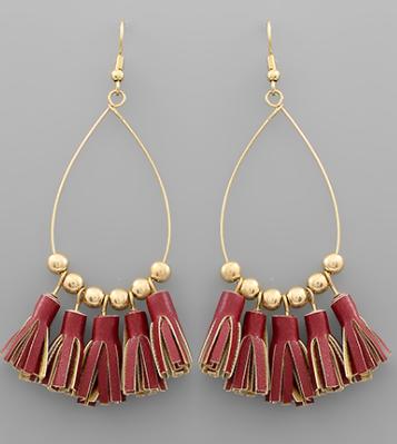 Tassel TearDrop Earrings - 3 Colors! *Final Sale*