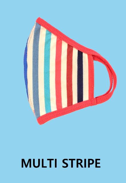 KIDS' Striped Facemask *Final Sale*