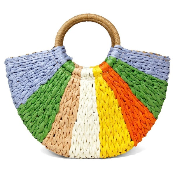 Raffia Paper Straw Tote Bag
