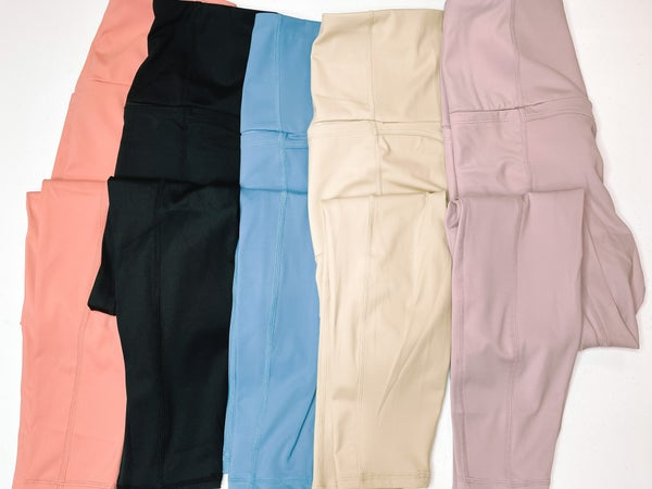 Seize The Day Leggings/Workout Wear with Pockets *5 Colors!*