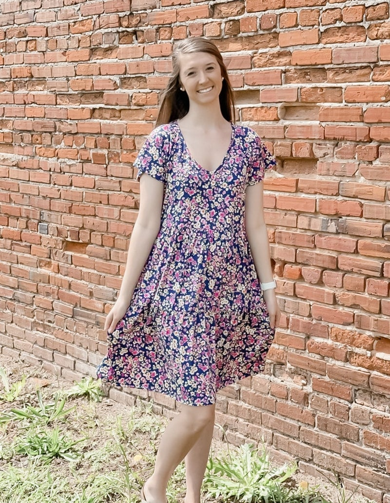Loyal To Her Floral Dress
