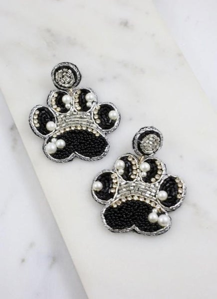 Paw Embellished Earrings