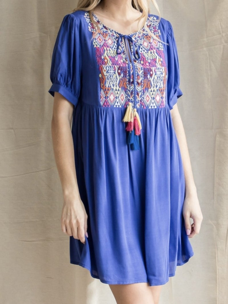 No Hassle With A Tassel Dress